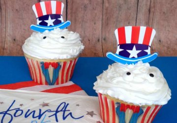 July 4th Cupcakes and party food ideas