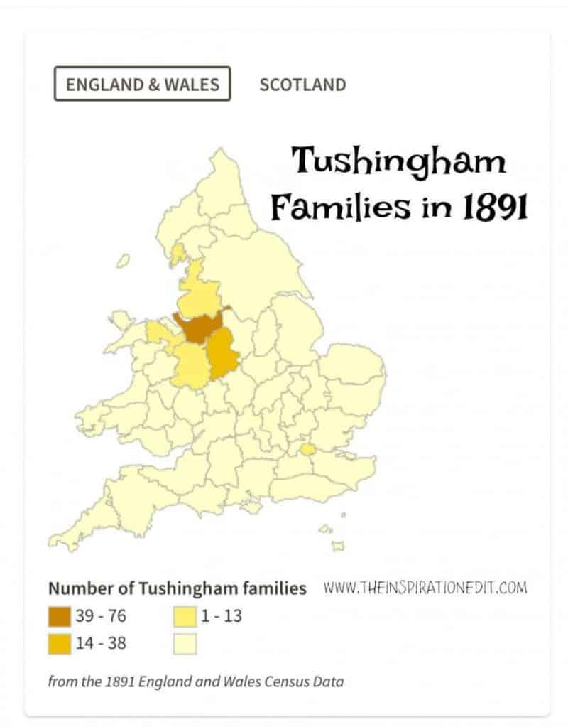 Tushingham Family name