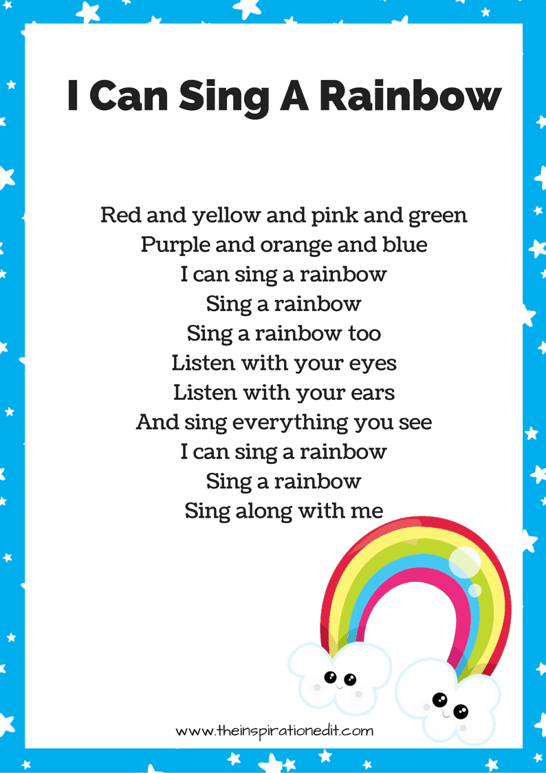 I can sing a rainbow song