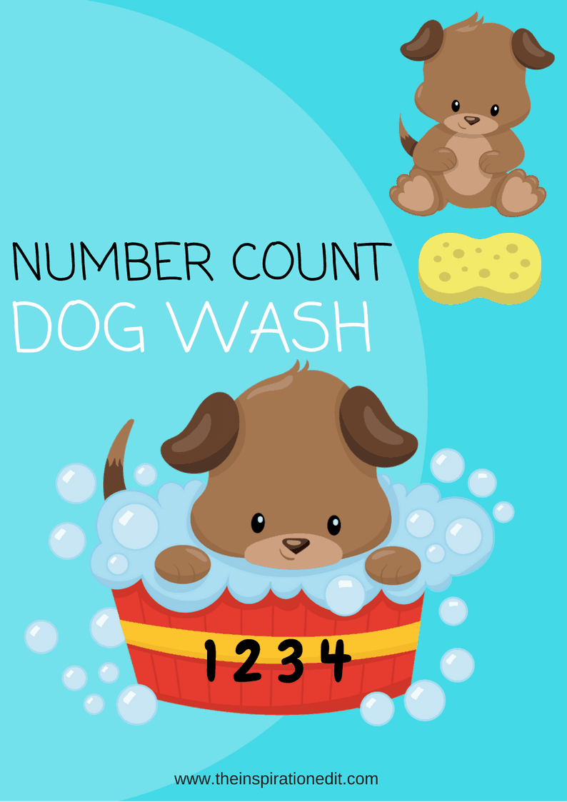 Number Count Dog Wash Free Counting Printable · The Inspiration Edit