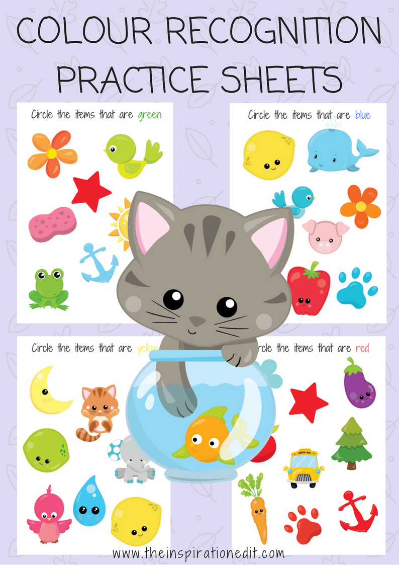 Colour Recognition Practice Sheets