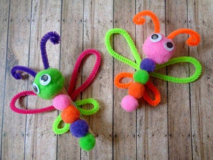 Pipe Cleaner Butterfly Crafts