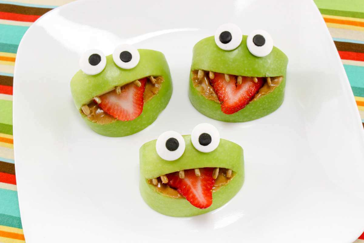 apple monsters for halloween