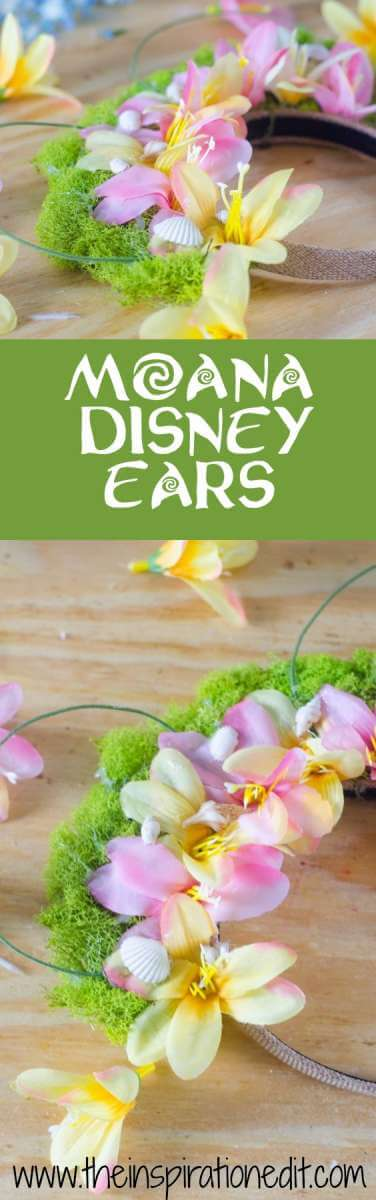 Moana Disney Ears Tutorial