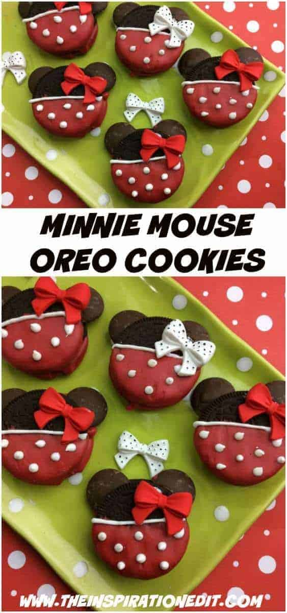 minnie mouse oreo cookies