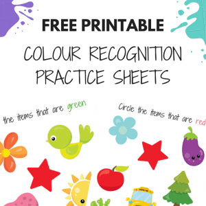colour worksheets for kids