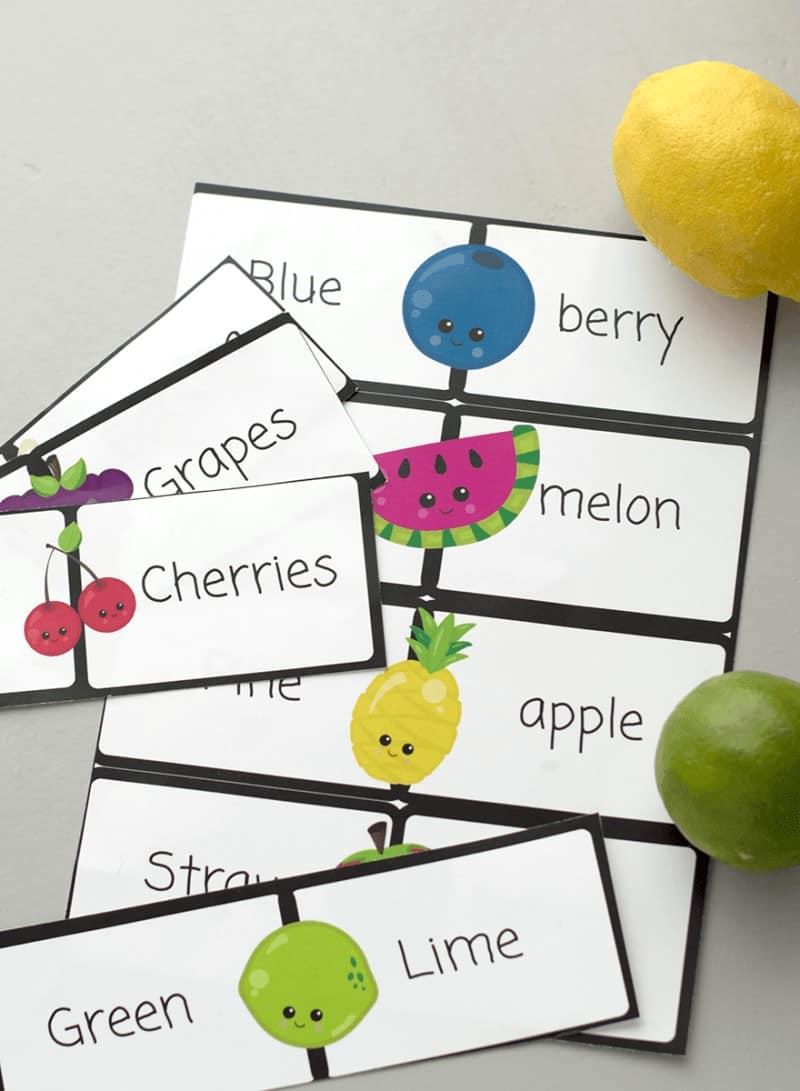 Fruit printable for kids