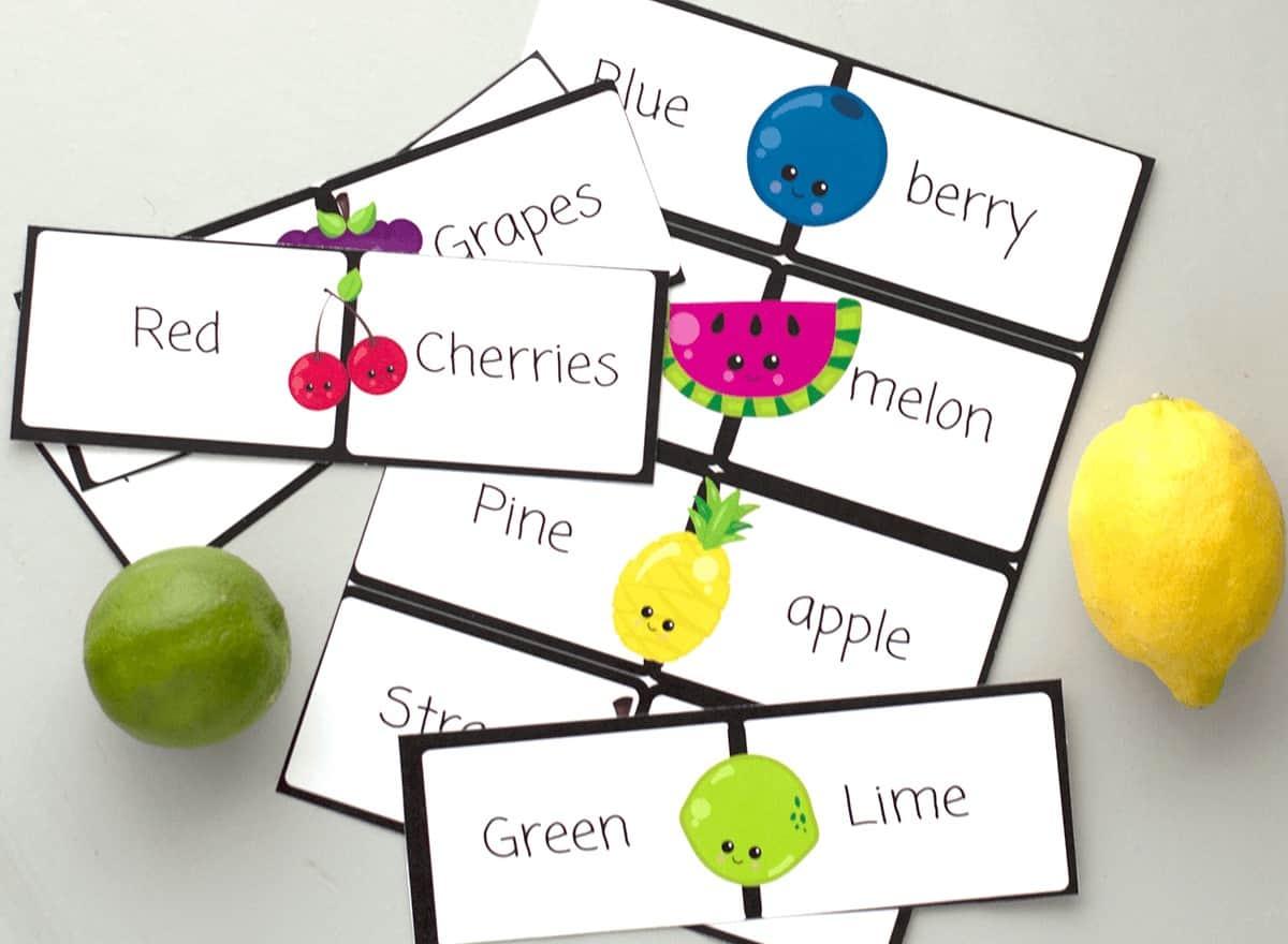 literacy cards