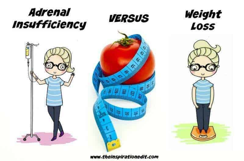 ADRENAL Insufficiency and weight loss problems