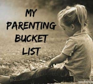 parenting bucket list