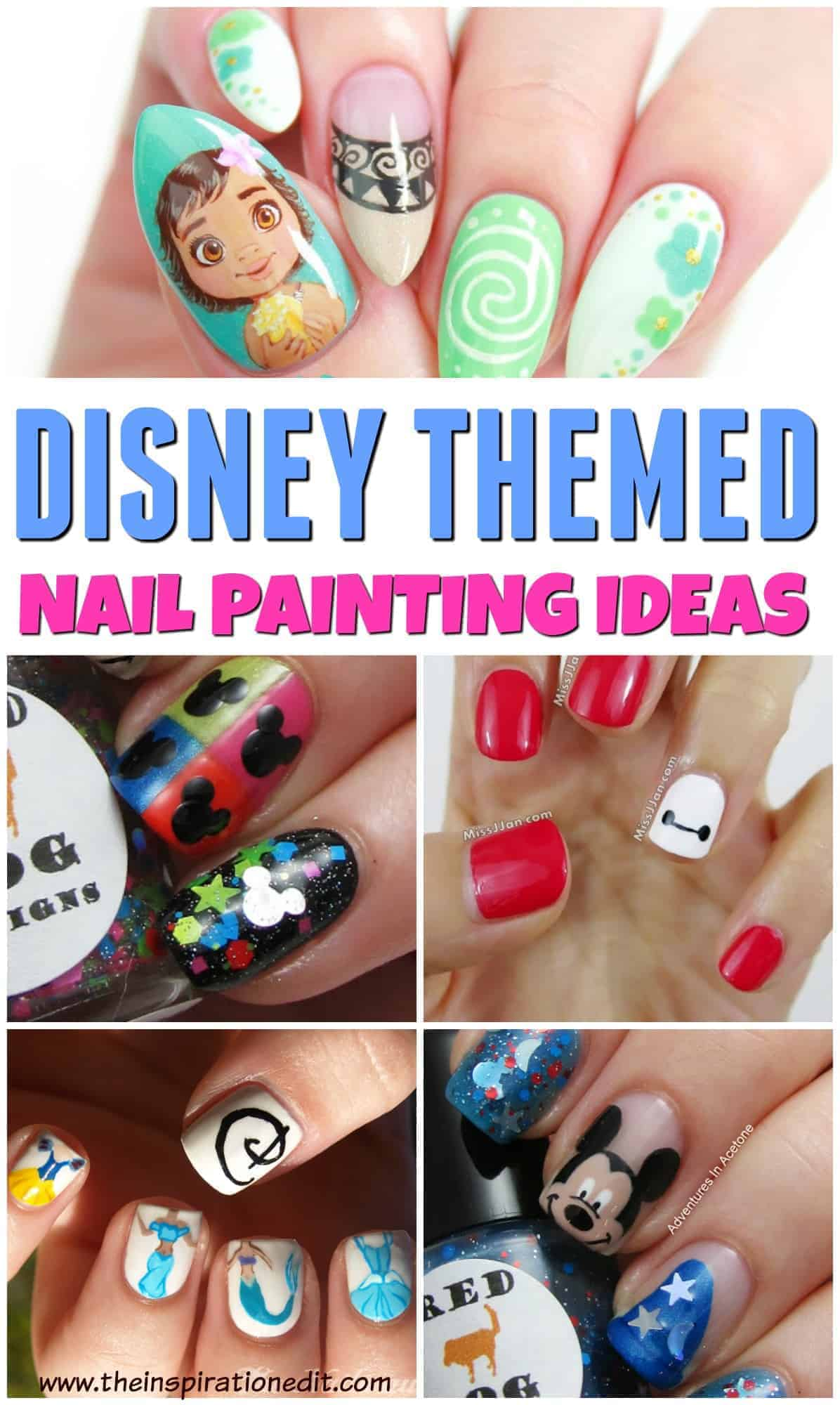Get inspired with these Disney Themed nail painting ideas!