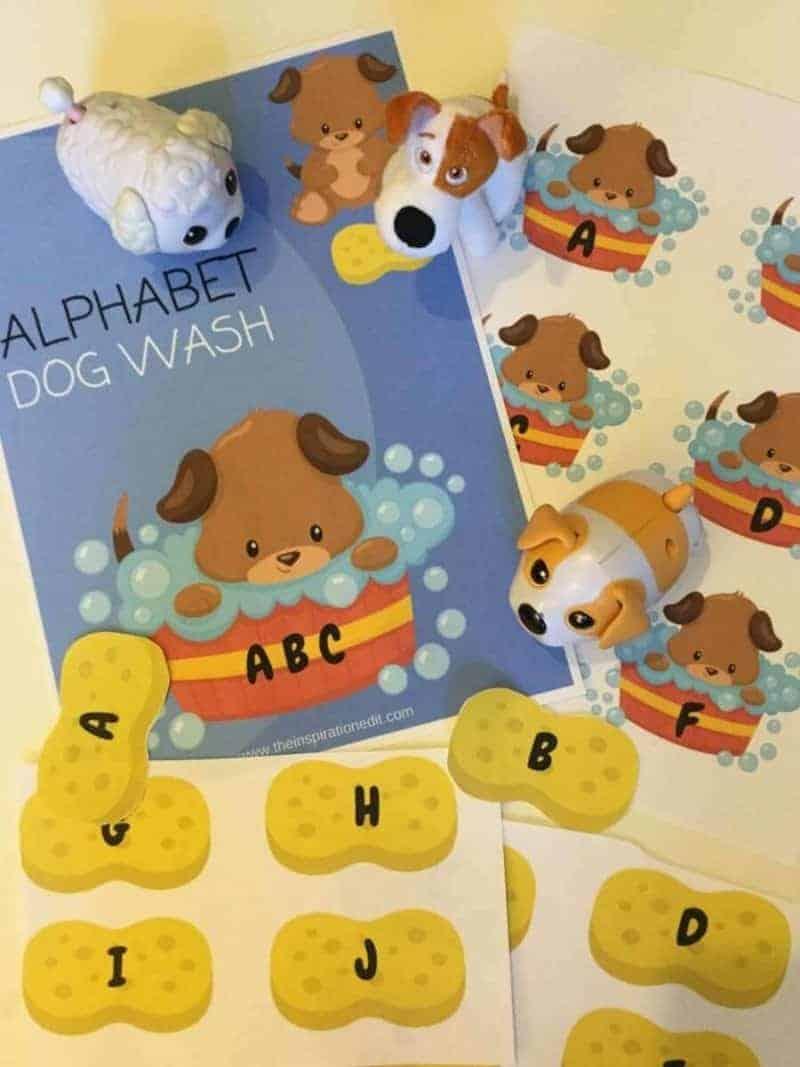 dog wash phonics printable
