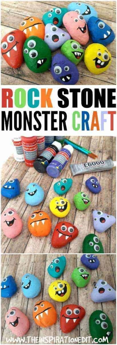 Rock Monsters . halloween monster rocks decoration idea