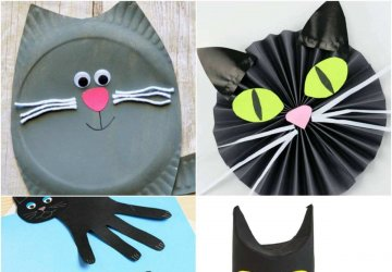 cat crafts for kids and halloween