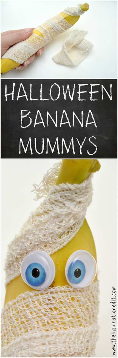 halloween banana Mummy