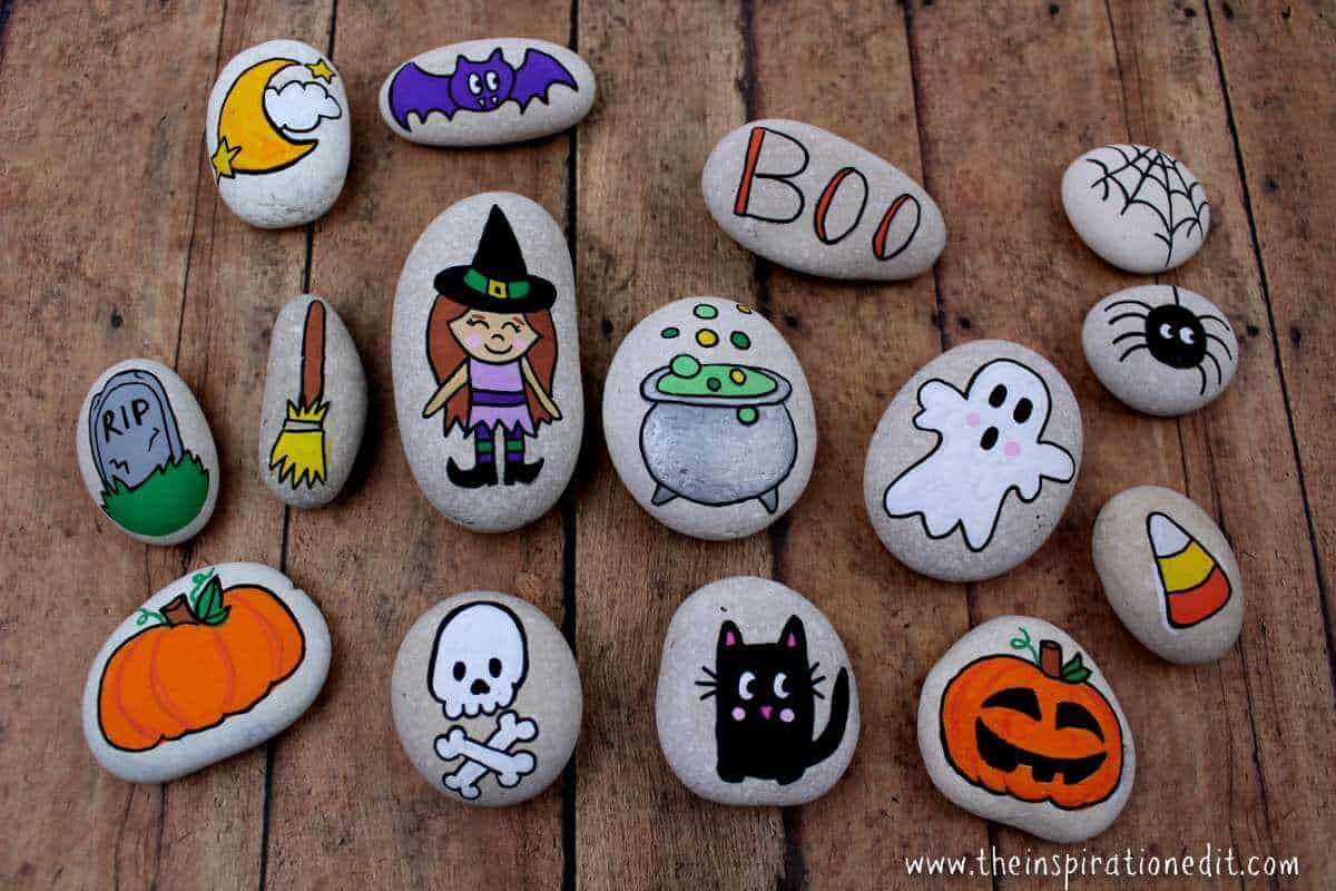 Halloween Rock Painting Idea For Kids The Inspiration Edit