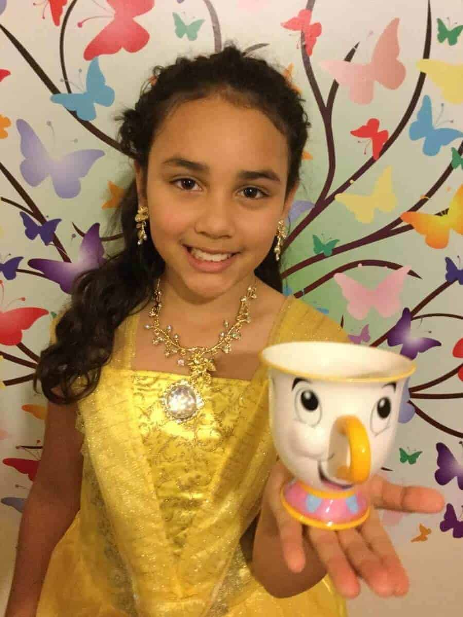beauty and the beast costume and chip cup