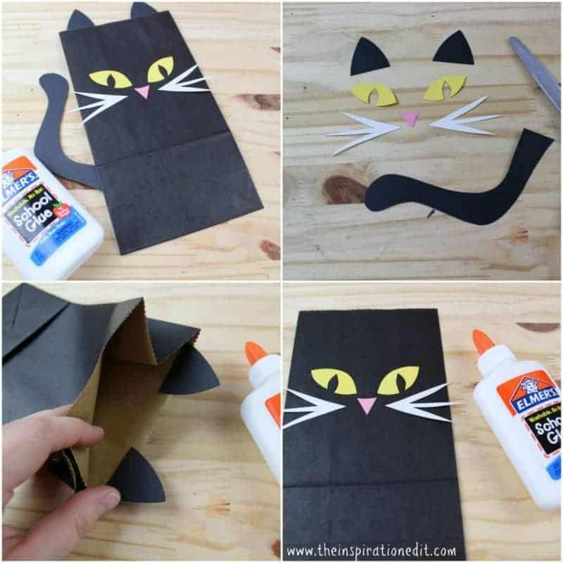 cat themed trick or treat bag