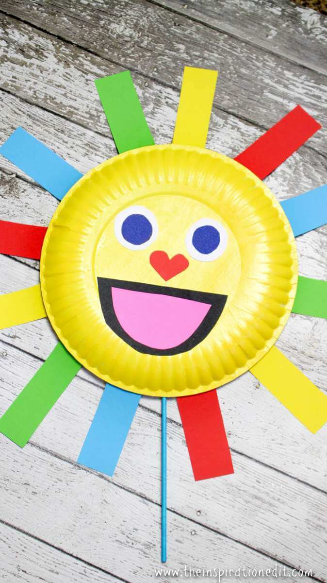 Summer Sun Paper Plate Craft Puppet 183 The Inspiration Edit