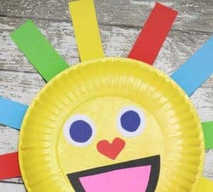 summer sun paper plate craft