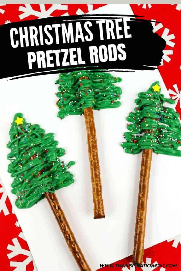 CHRISTMAS TREE PRETZEL RODS