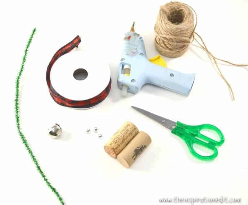 diy wine cork mouse christmas craft supplies
