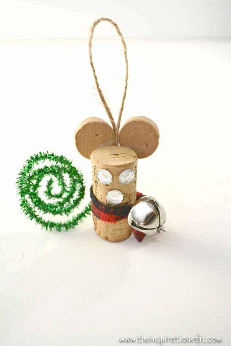 diy wine cork mouse christmas craft