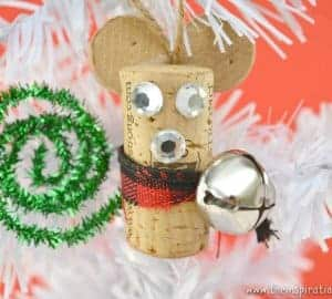 wine cork mouse craft