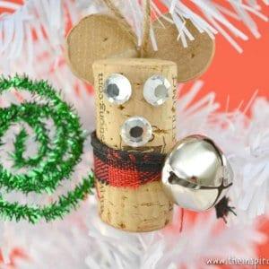 wine cork mouse craft