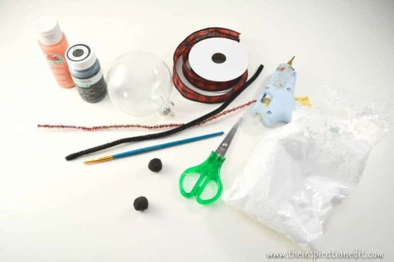 snowman ornament supplies