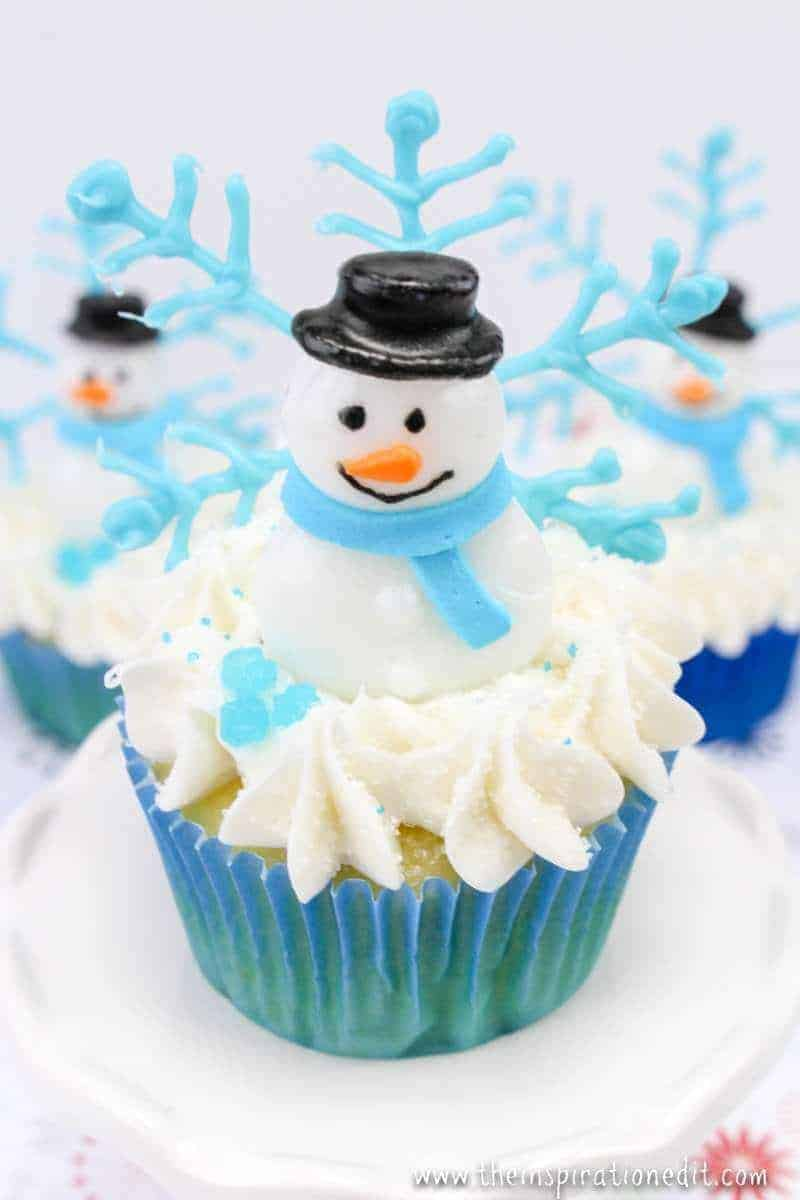 Funky Winter Snowman Cupcakes 183 The Inspiration Edit