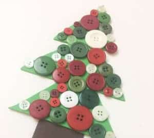 christmas tree button craft
