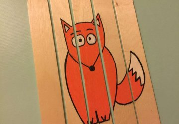 popsicle stick Fox craft