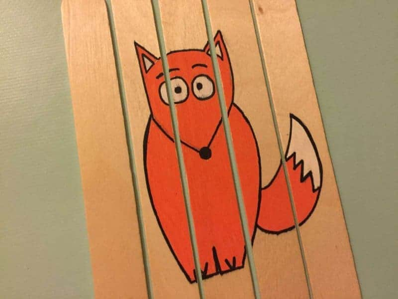 popsicle stick Fox craft