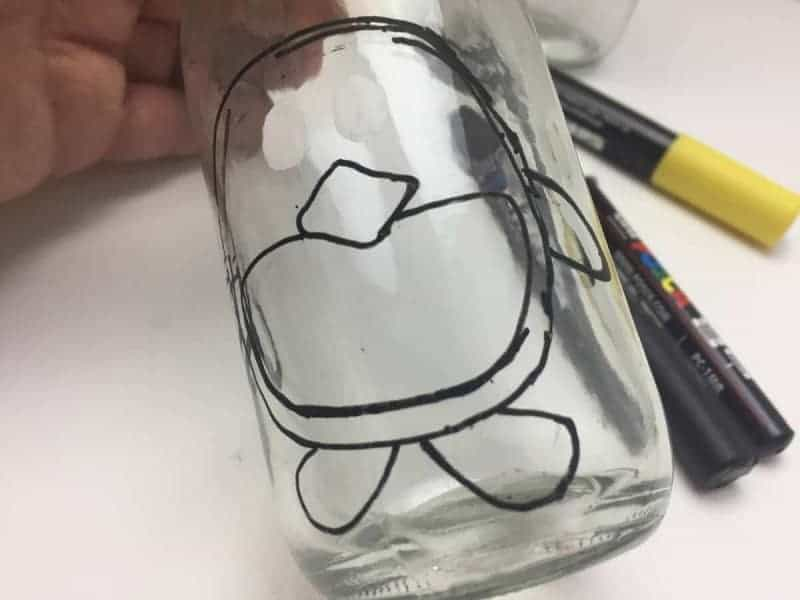 penguin craft milk bottle