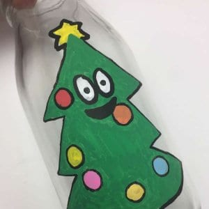 Christmas Tree craft bottle