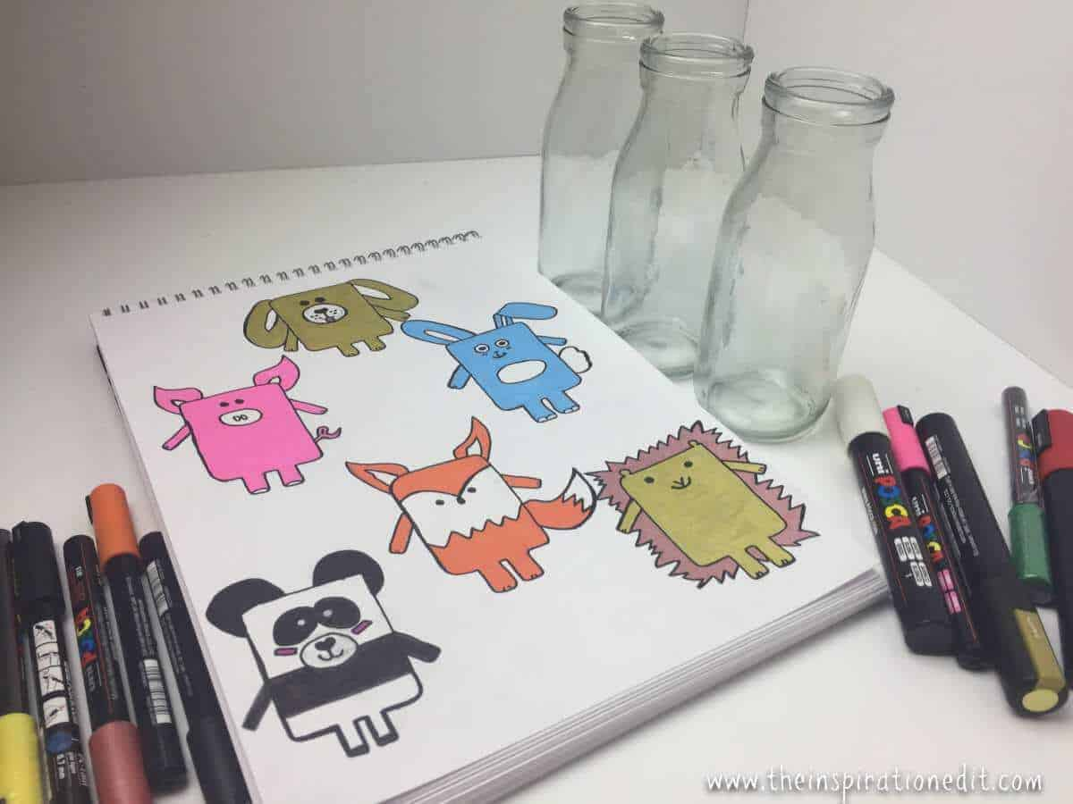 Diy easter bunny gift idea for the kids the inspiration edit easter craft or animal themed art activity to do with kids in the classroom or at home you can also mix them up and draw and design different styles negle Choice Image