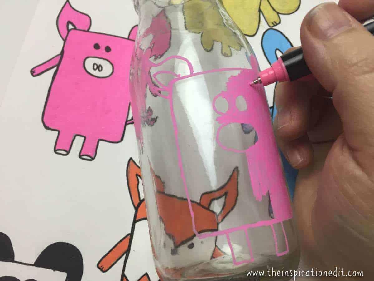 milk bottle art