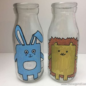 milk bottle hedgehog craft