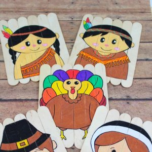Thanksgiving Kids Craft using lollipop sticks