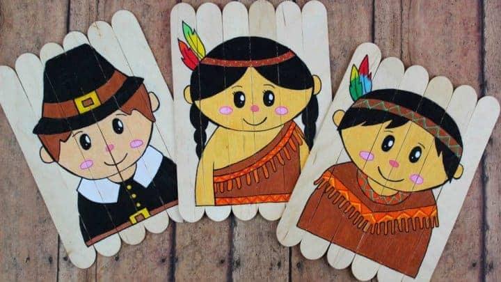 Thanksgiving Kids Craft using lollipop sticks