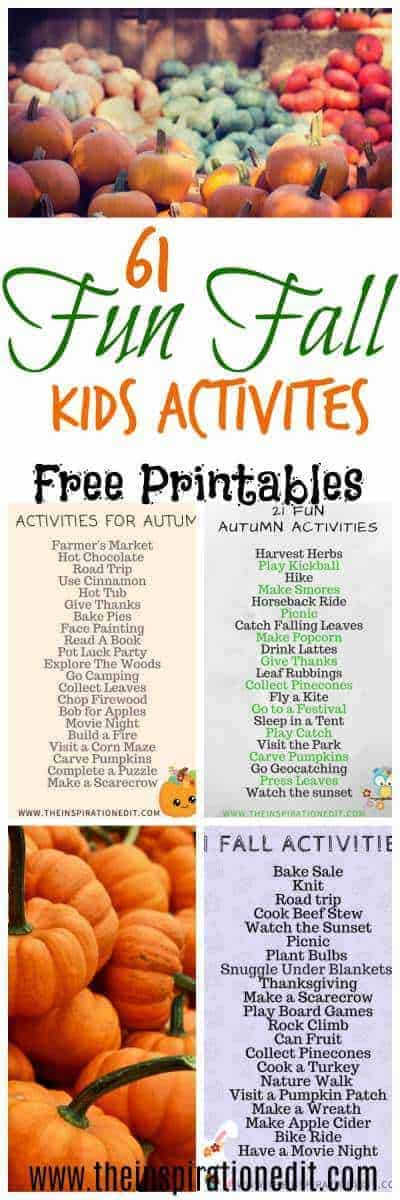 kids autumn activities