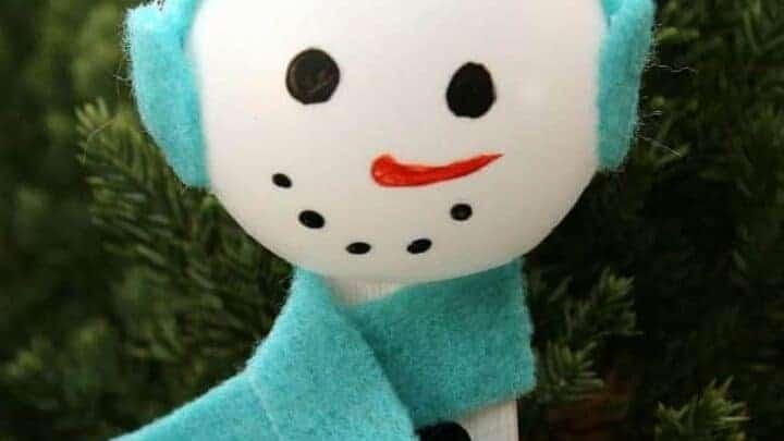 PING PONG SNOWMAN CRAFT