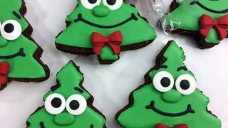 Fun and Funky Christmas Tree Brownies
