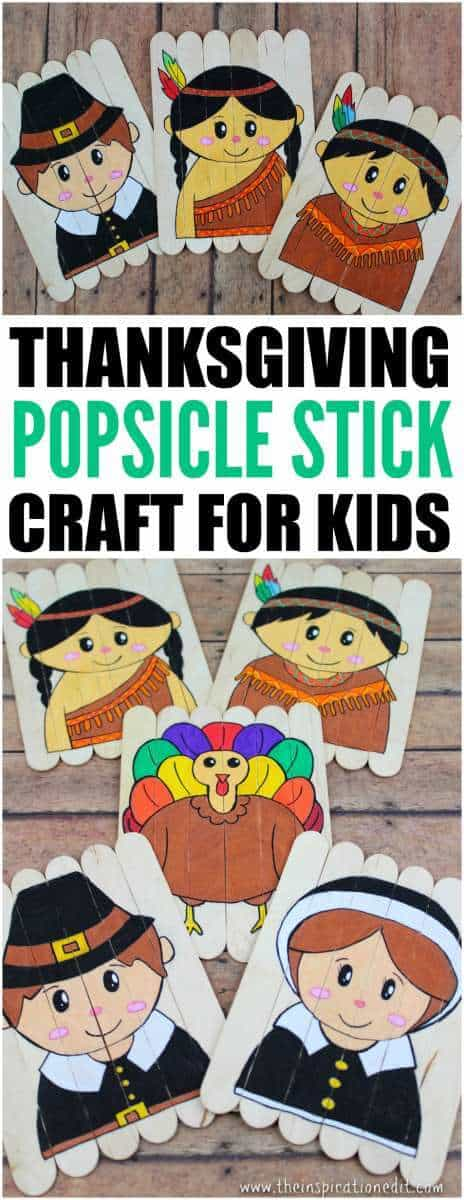 Thanksgiving lollipop stick craft