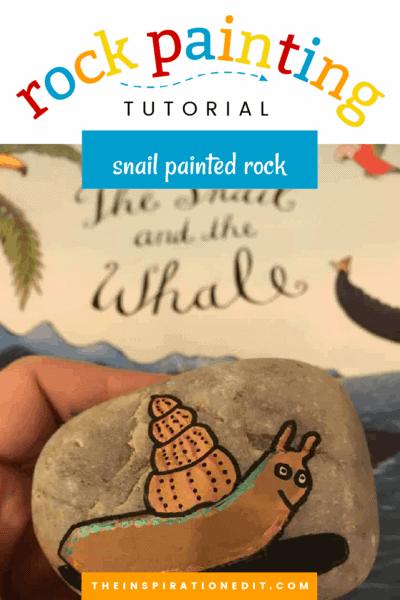 snail painted rock copy