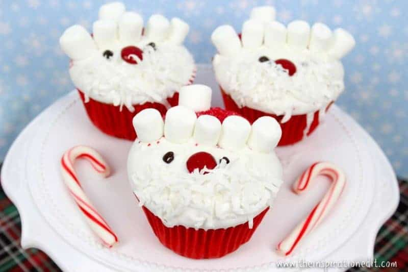 funky father christmas cupcakes to make for your christmas party