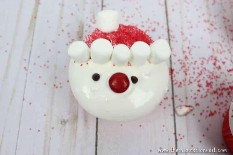 santa cupcake party food idea