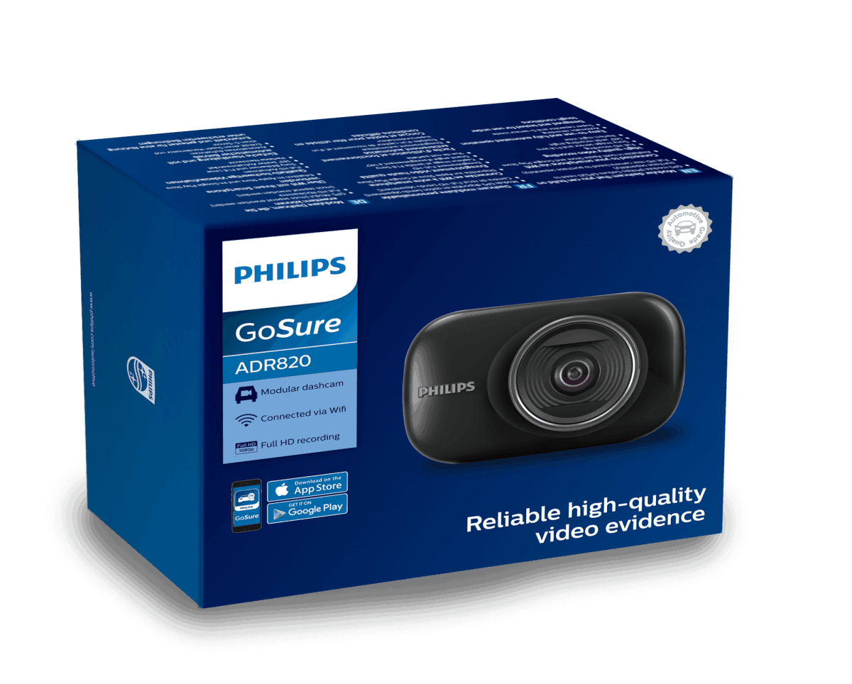 Philips ADR820 dashcam Boxing View