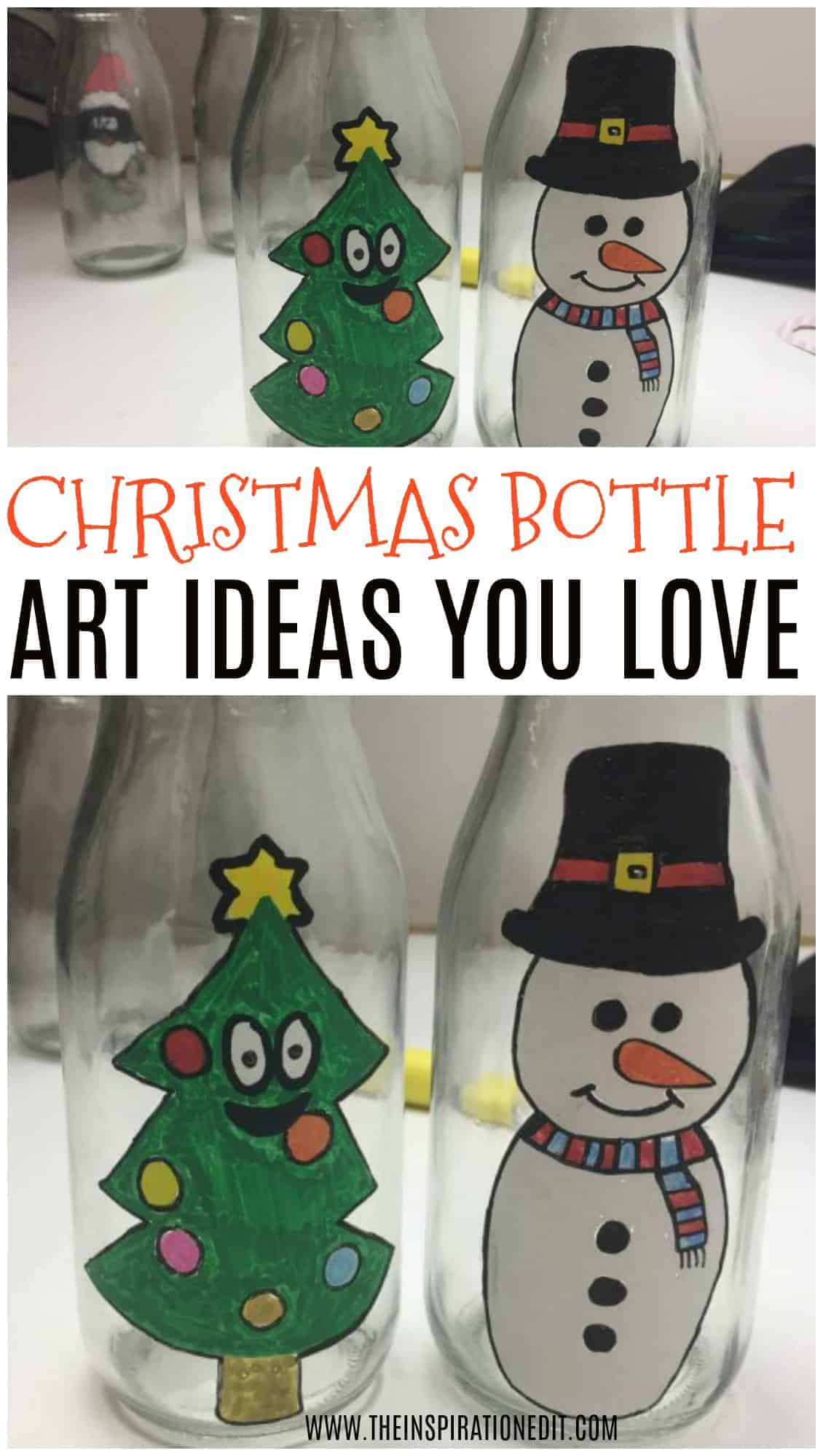 CHRISTMAS BOTTLE ART